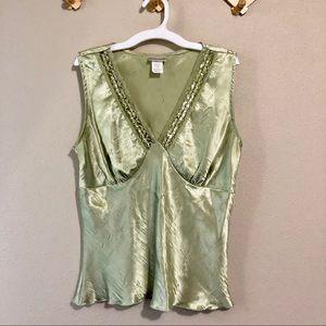 🎈5/$10 Vintage Fashion Bug Satin Embellished Top
